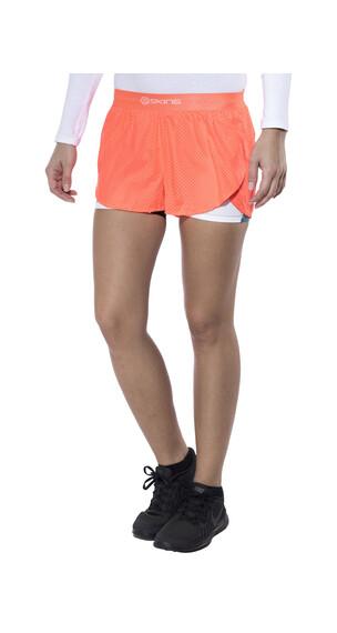 Skins DNAmic Superpose Hardloop Shorts Dames rood